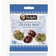 """Delphi маринованные оливки и маслины """"Каламата"""" б/к 30г вакуум"""