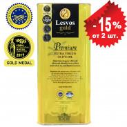 Lesvos gold P.G.I. оливковое масло Extra Virgin PREMIUM 0,2% с о.Лесбос 5л жесть