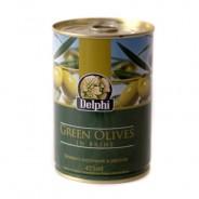 Delphi зеленые оливки в рассоле 400г жесть