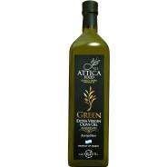 Attica Food оливковое масло GREEN Extra Virgin нефильтрованное 0,2% с п/о Пелопоннес 1л стекло