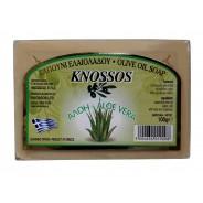 Knossos натуральное оливковое мыло c алоэ 100г