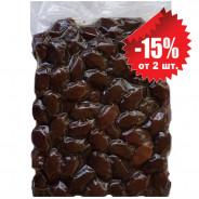 """Attica Food запеченные черные гигантские оливки """"Damaskino"""" 1000г вакуум"""
