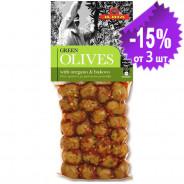 Ilida зеленые оливки с орегано и буково 250г вакуум