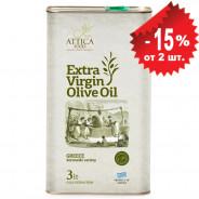 Attica Food оливковое масло Extra Virgin c п/o Пелопоннес 3л жесть