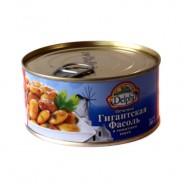 Delphi печеная гигантская фасоль в томатном соусе 280г жесть