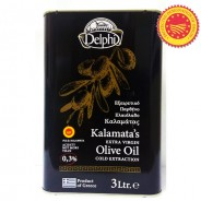 Delphi оливковое масло Extra Virgin 0,3% P.D.O. Kalamata c п/o Пелопоннес 3л жесть