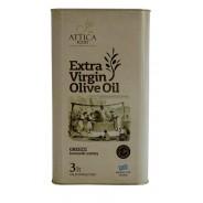 Attica Food оливковое масло Extra Virgin 0,3% c п/o Пелопоннес 3л жесть