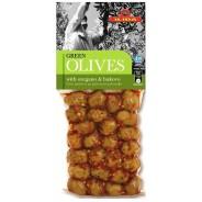 Ilida зеленые оливки с орегано и буково 150г вакуум