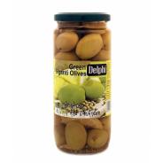 Delphi зеленые оливки в маринаде с лимоном и кориандром 480г стекло