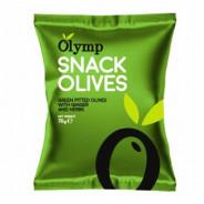 Оливки зеленые б/к маринованные с имбирем и травами, Olymp 70г фольга