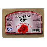 Knossos натуральное оливковое мыло с розой 100г