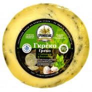 """Сыр полутвёрдый """"Греко с чесноком и базиликом"""" 230-260г вакуум"""