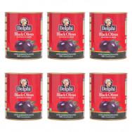 Delphi маслины SUPER MAMMOUTH 91/100 в рассоле 6штх820г жесть (1шт=287р)