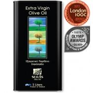 Sellas оливковое масло Extra Virgin 0,3% c п/o Пелопоннес 5л жесть (1л=678р)