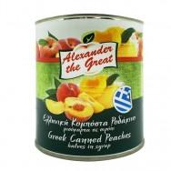 Alexander the Great половинки персиков в легком сиропе 820г жесть
