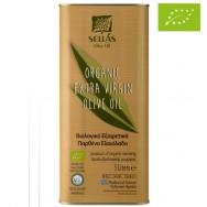 Sellas оливковое масло Extra Virgin 0,3% Organic (Bio) c п/o Пелопоннес 5л жесть (1л=798р)