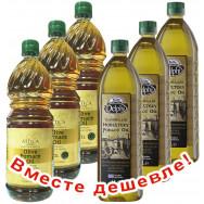 НАБОР 3шт Attica Food оливковое масло Pomace 1л пластик + 3шт Delphi монастырское оливковое масло Pomace 1л пластик (1шт=433р)