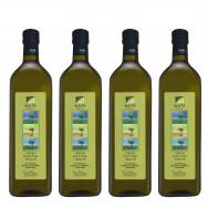 Sellas оливковое масло GREEN Extra Virgin нефильтрованное 0,2% с п/о Пелопоннес 4штх1л стекло (1шт=952р)