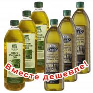 НАБОР 3шт Sellas оливковое масло Pomace c п/o Пелопоннес 1л пластик + 3шт Delphi монастырское оливковое масло Pomace 1л пластик (1шт=433р)