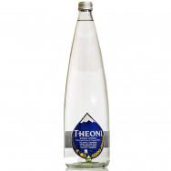 Вода минеральная питьевая природная столовая газированная THEONI 1000мл стекло