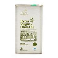 Attica Food оливковое масло Extra Virgin 0,3% c п/o Пелопоннес 3л жесть (1л=748р)