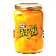 Delphi половинки персиков в легком сиропе Отборные 680г стекло