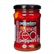 Royal перец красный сладкий фаршированный сыром PEPPADORO 250г стекло