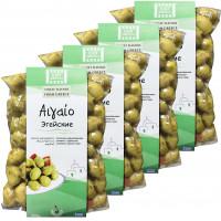Just Greece зеленые оливки ''Эгейские'' 4штх500г вакуум (1шт=420р)